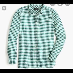 J. CREW | classic fit boy shirt crinkled gingham